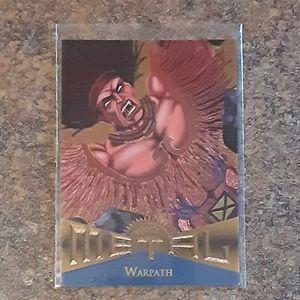 Vintage 1995 Marvel Metal Warpath Collector's Card